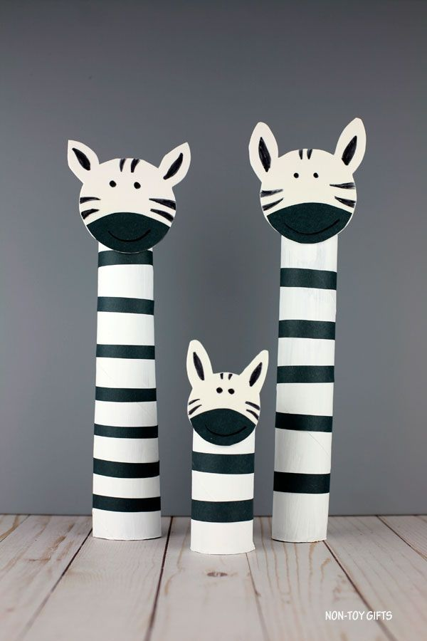 Paper Roll Zebra Craft For Kids - Recycled ZOO Animal Craft