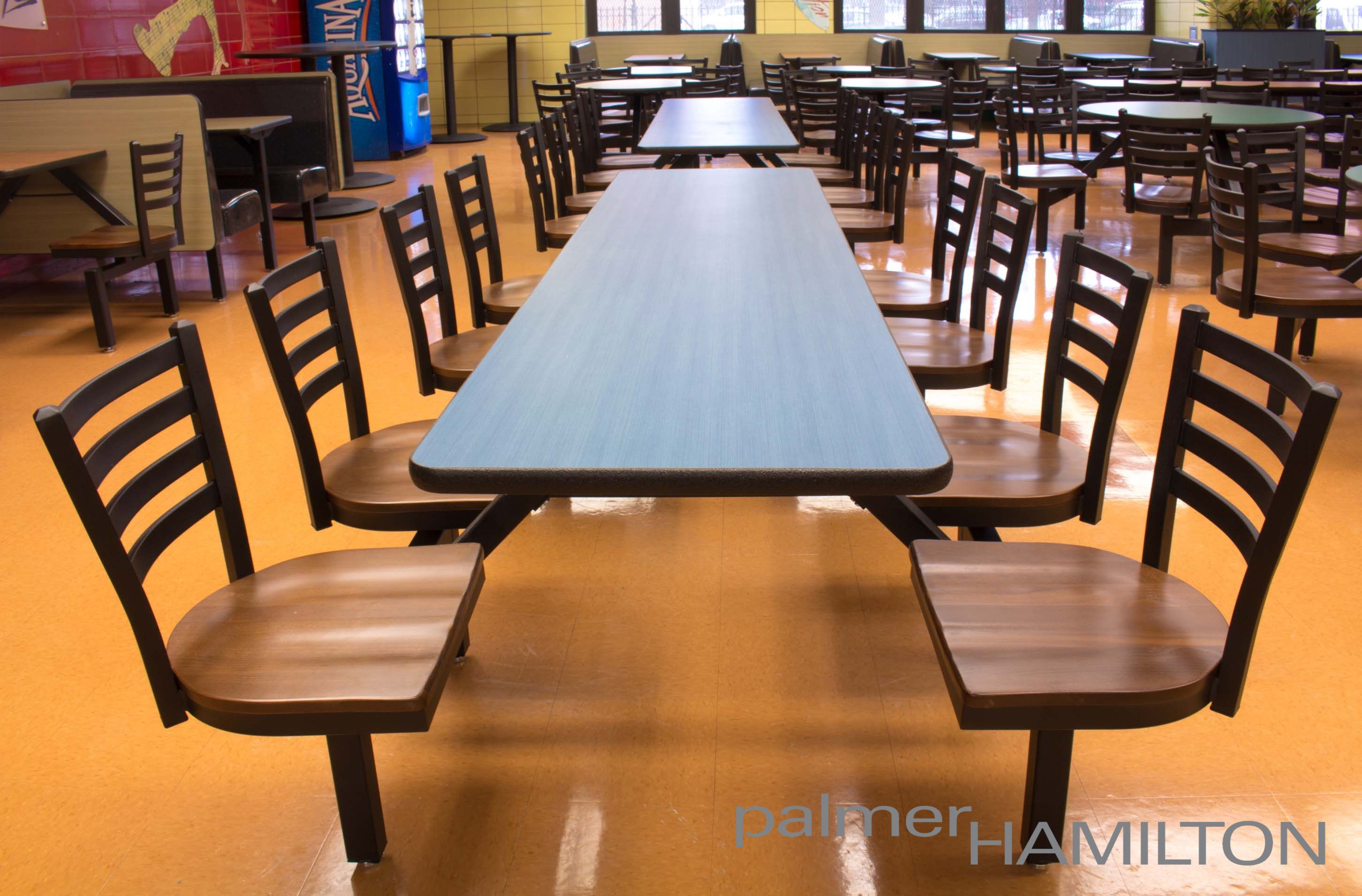 High School Dining Space With Covey Cluster Seating Indoor Or Outdoor Furniture Learn More At Www Palmerhamilton Flexible Furniture Indoor Seating Seating