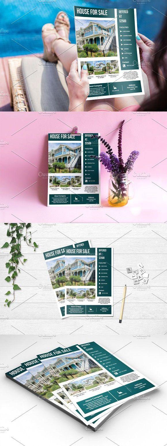 real estate flyer template v653 pinterest