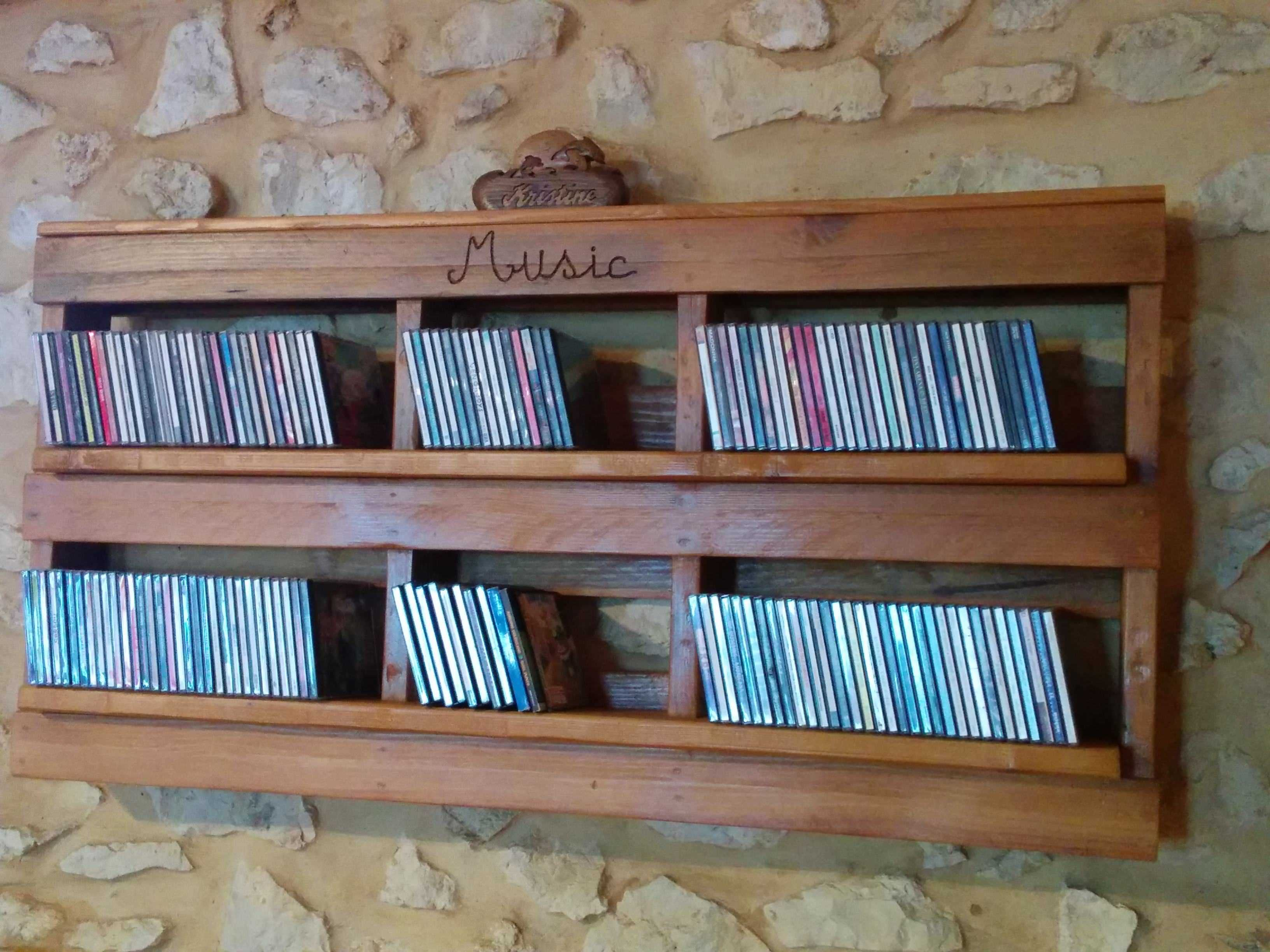 Music Cd Storage Solutions Pallet Cd Shelf • Pallet Ideas  Pallets Shelves And Storage