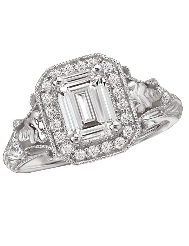 Halo Semi-Mount Diamond Ring - Engagement Rings