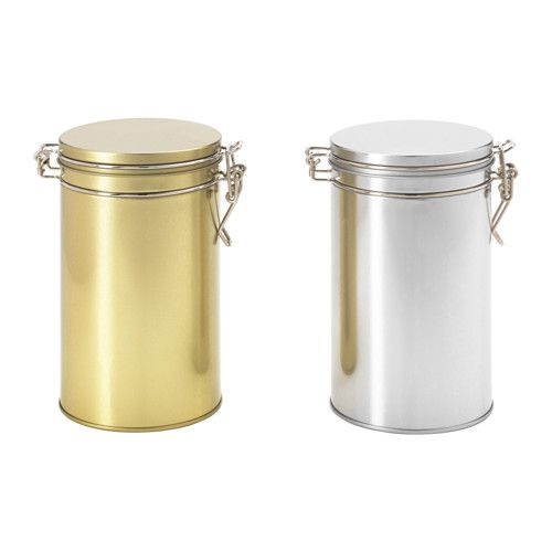 IKEA   HEMSMAK, Tin With Lid, The Airtight Seal Helps Food Retain Its  Flavor And Aroma Longer.Suitable For Coffee, Tea And Other Dry Food.