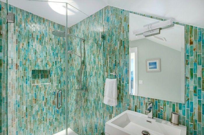 Entscheiden Sie sich für ein türkisfarbenes Badezimmer - 80 Deko