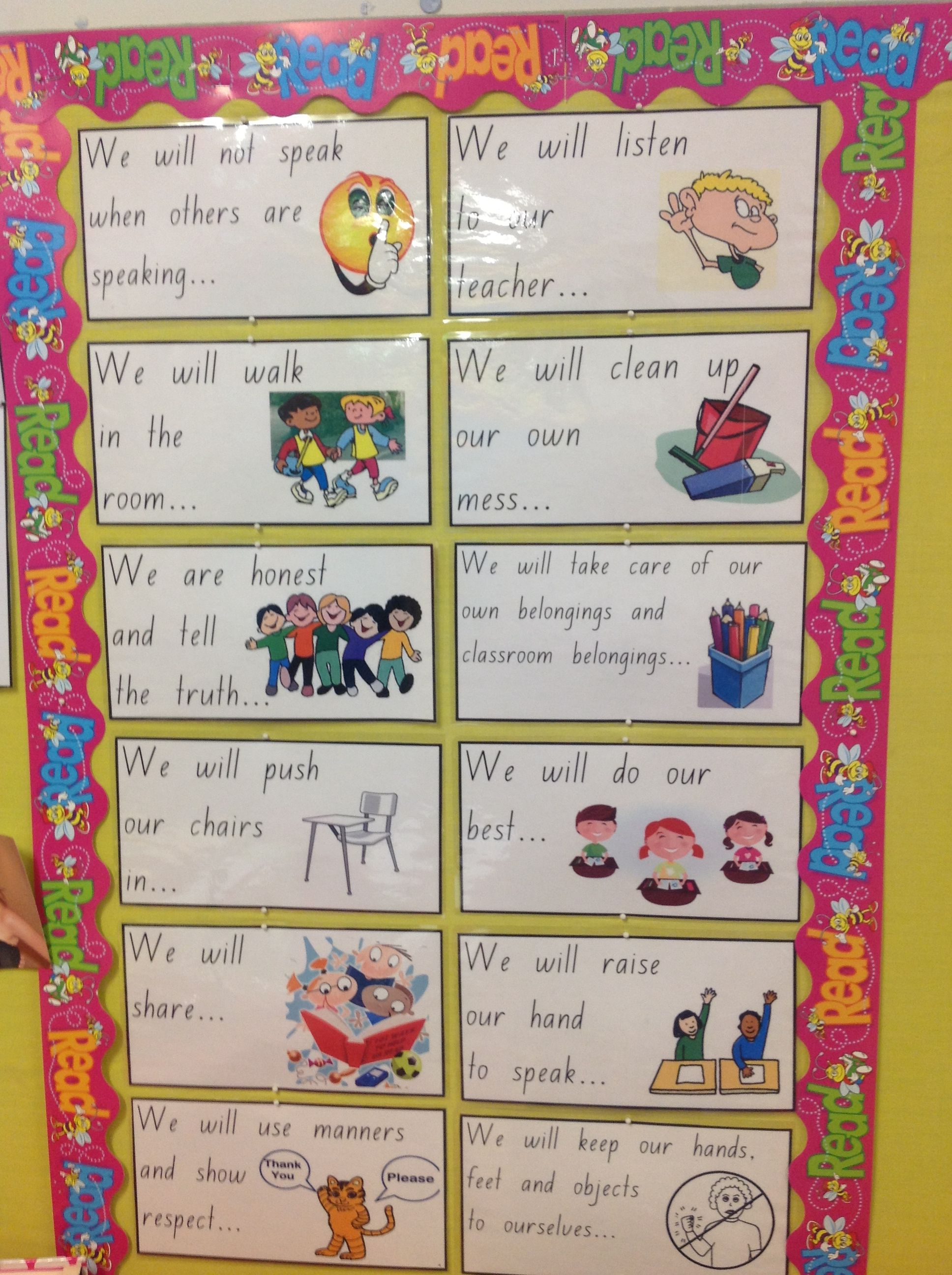Class rule display for year 1 and kindergarten. | Class rules ...