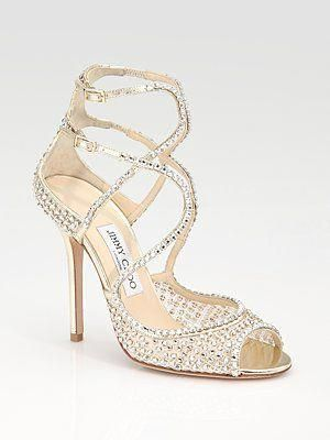 a fabulous bling strappy wedding shoe by jimmy choo