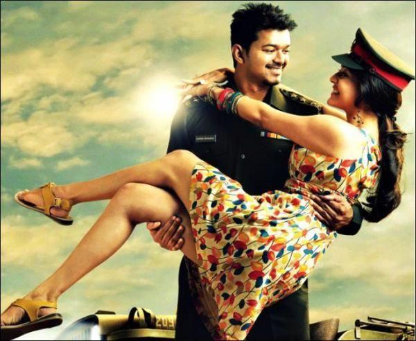 Vijay And Kajal Aggarwal At Thuppaki Movie Tamil Movies Tamil Songs Lyrics Movie Songs
