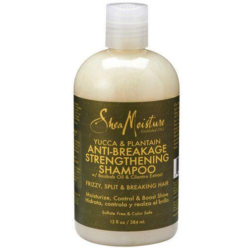 Shea Moisture Organic Yucca & Plantain Anti-Breakage Strengthening Shampoo 13 fl oz