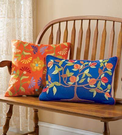 folk art pillows