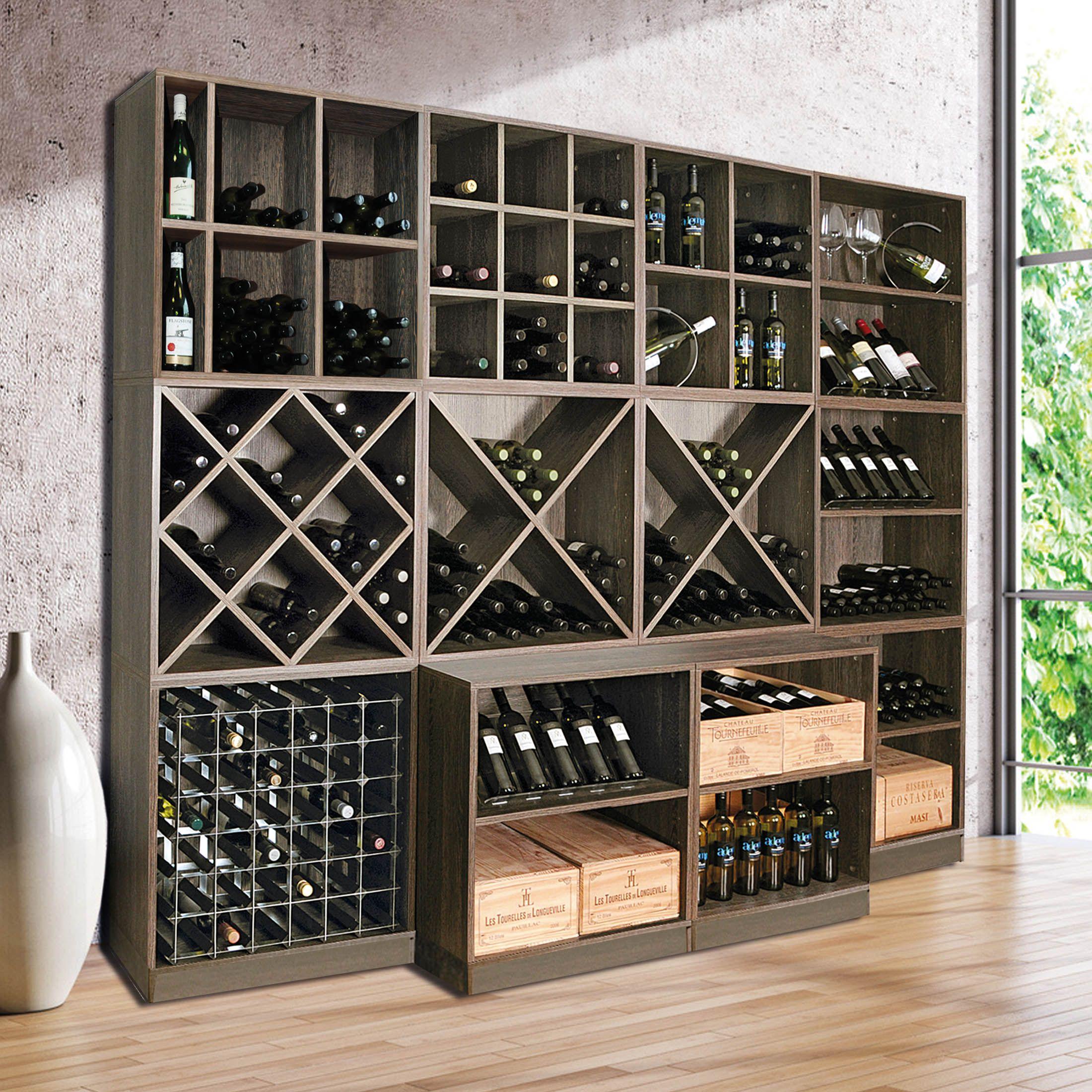 klassisches weinregalsystem mit vielseitigen modulen sowohl f r keller wohnbereich oder f r. Black Bedroom Furniture Sets. Home Design Ideas