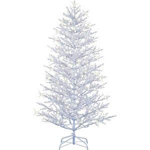 GE Pre-Lit 7' Winterberry Artificial Christmas Tree, White - Anna ...
