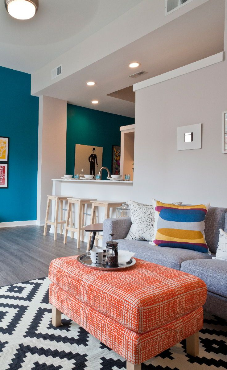 bright colors and lots of natural light make this open