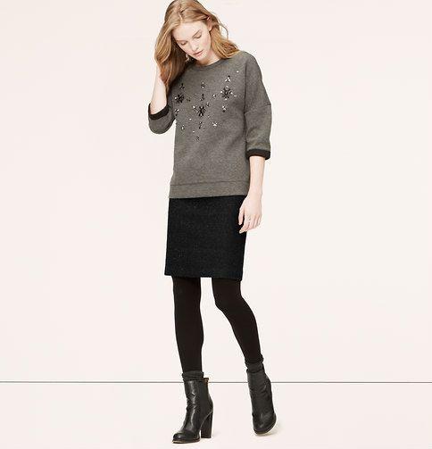 939eb7c2cb4f5c Petite Curvy Fit Confetti Tweed Pencil Skirt | Loft | Wish List!
