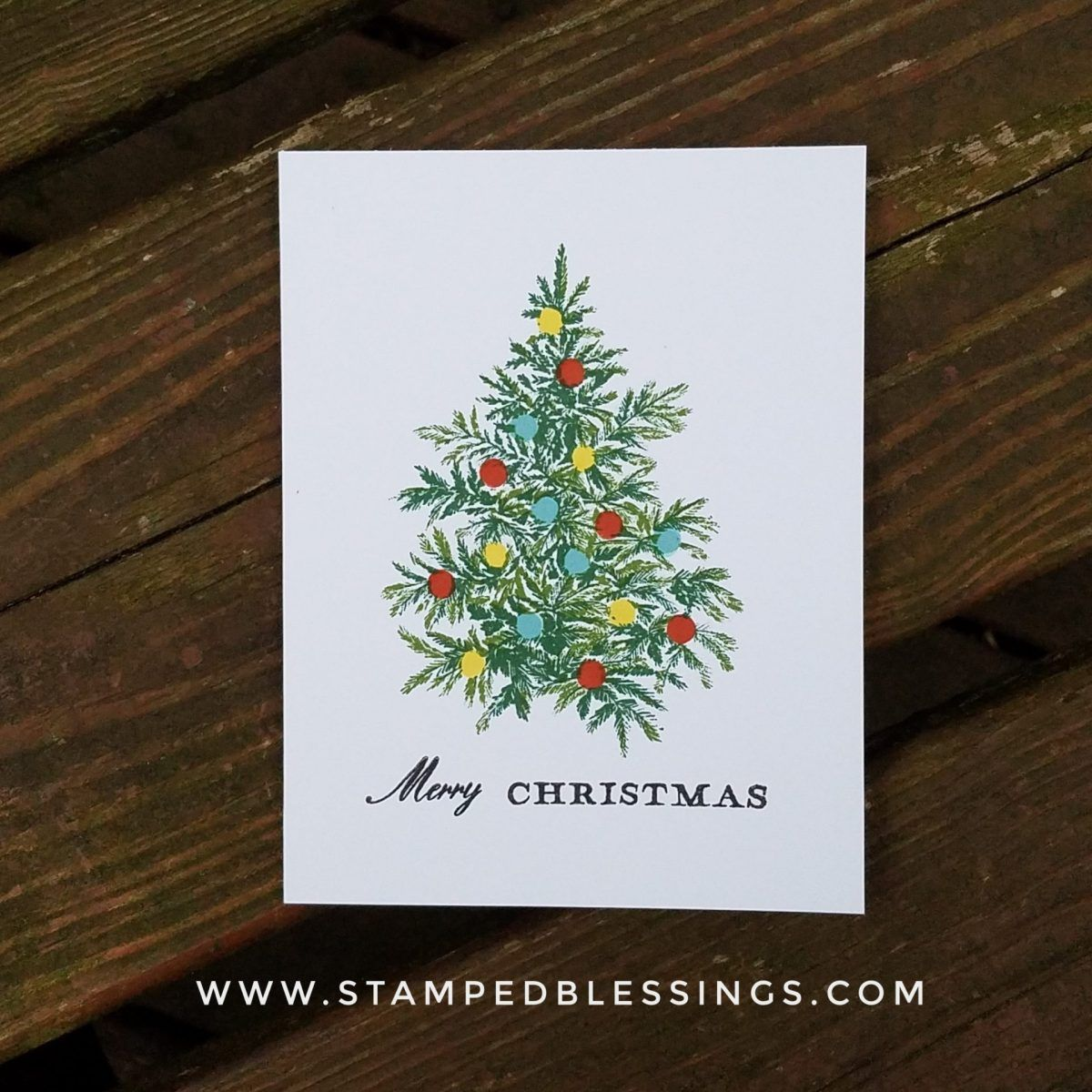 Ctmh Merry Christmas Tree Stamped Blessings Christmas Tree Themes Christmas Stamps Tree Stamp