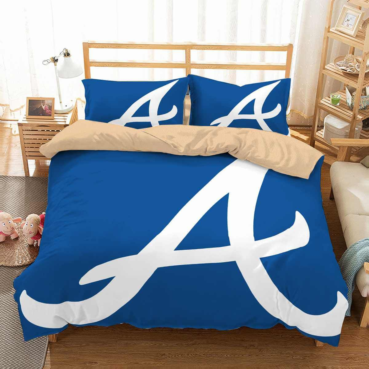 3d Customize Atlanta Braves Bedding Set Duvet Cover Set Bedroom Set Bedlinen Custom Bed Luxury Bedding Sets Bedding Set