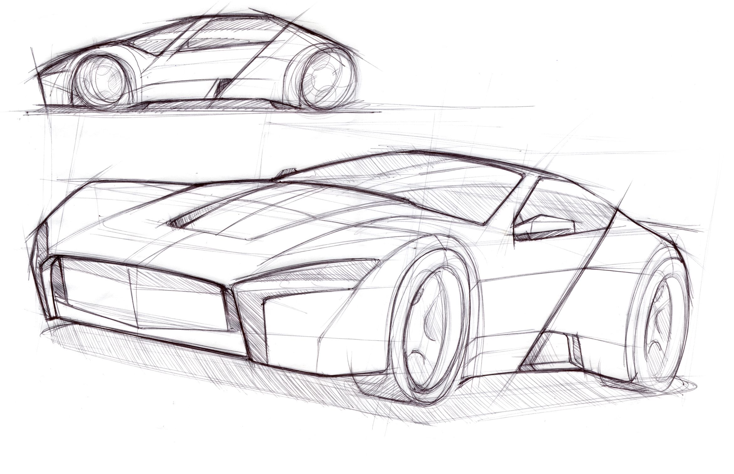 Basic design of a car - Sketch Design