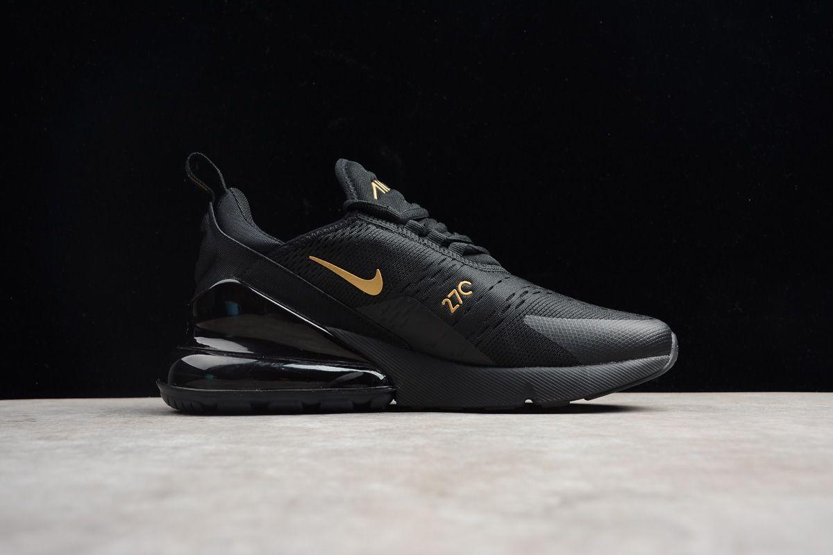 Nike Air Max 270 Black Gold Ah8050 007 Mens Size Shoes 1