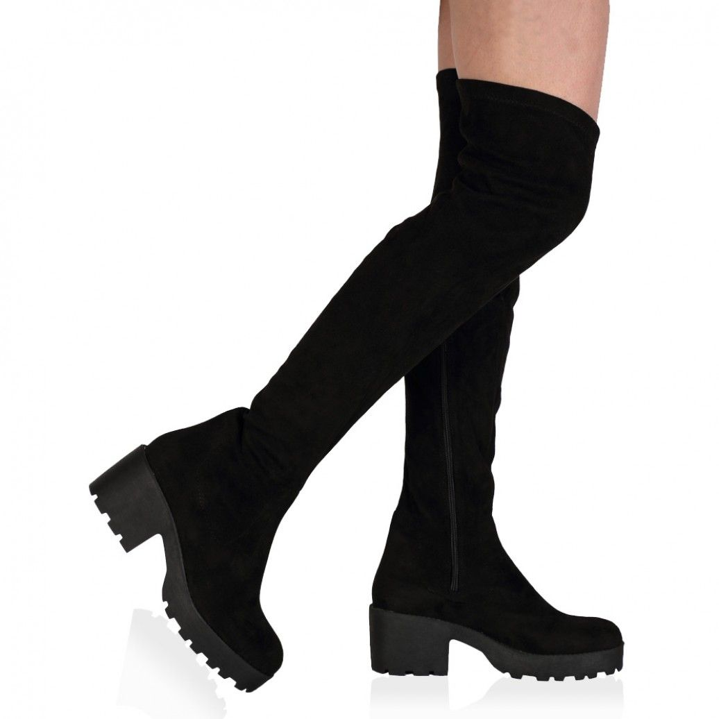 Carmen Over The Knee Black Boots | Shoes Obsession | Pinterest ...