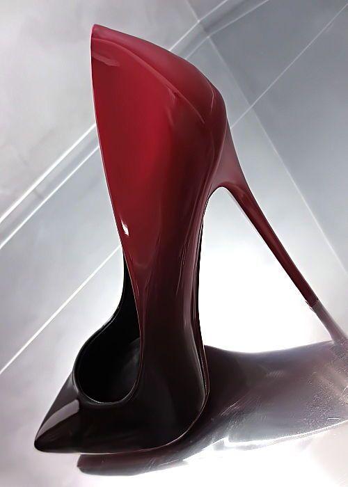 4356d1910ea0df NEU HOHE LACK Schwarz Rot Damen Pumps Elegant Y63 Schuhe Sexy Top High Heels  36