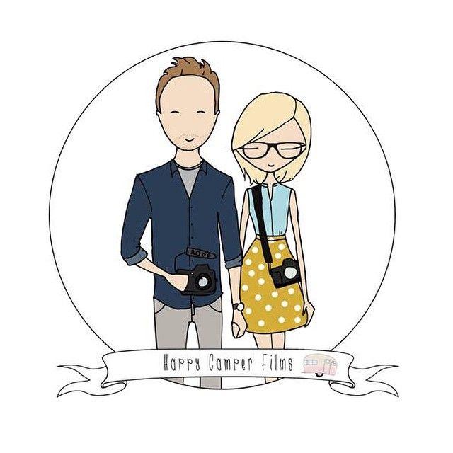 Wedding Branding Ideas: Cute Campers! #branding #illustration #love #filmmakers