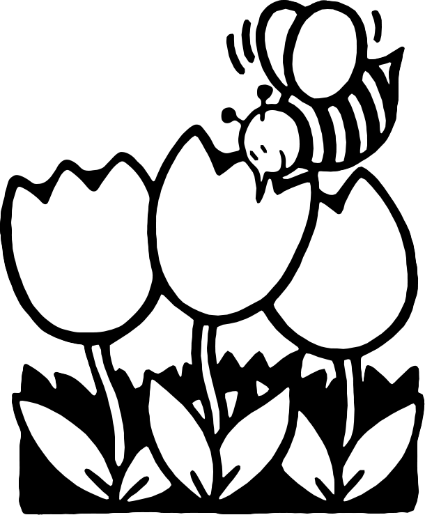 Gallery For Black And White Springtime Clipart