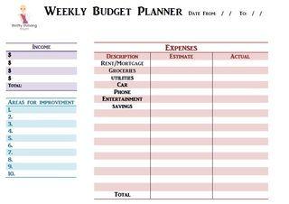 Ttmum Weekly Budget Planner Freeprintable  Tips Home Journal
