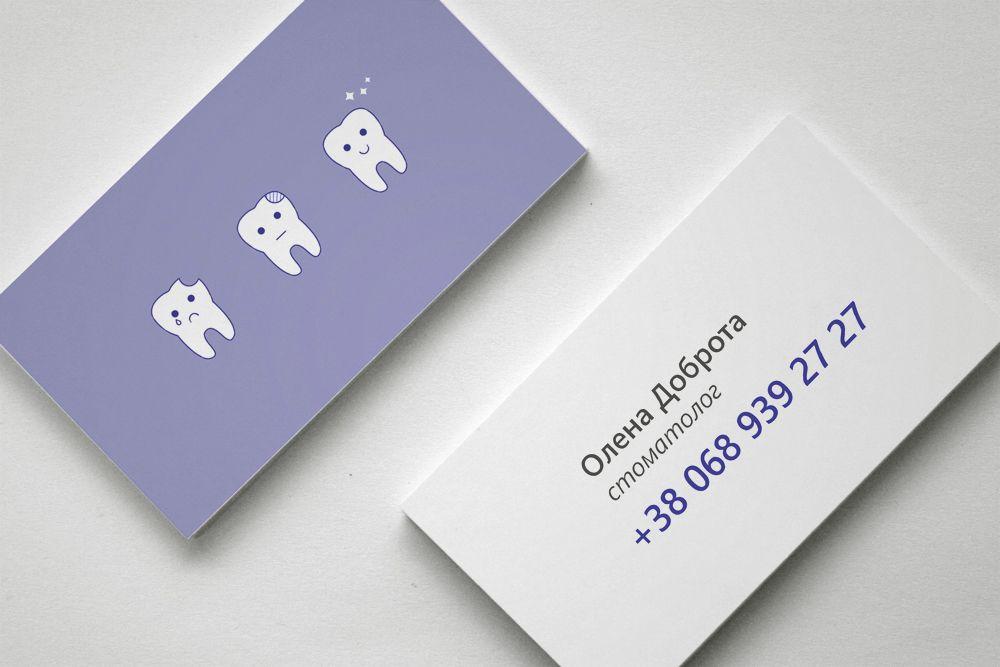 Business Card For Dentist On Behance Dental Business Cards Dental Business Medical Business Card