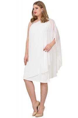1e91a3b781e22 Büyük Beden Şifon Tek Taraf Askılı Elbise KL6060K #abiyeler #abiyemodelleri  #elbisemodelleri #büyükbedenabiye