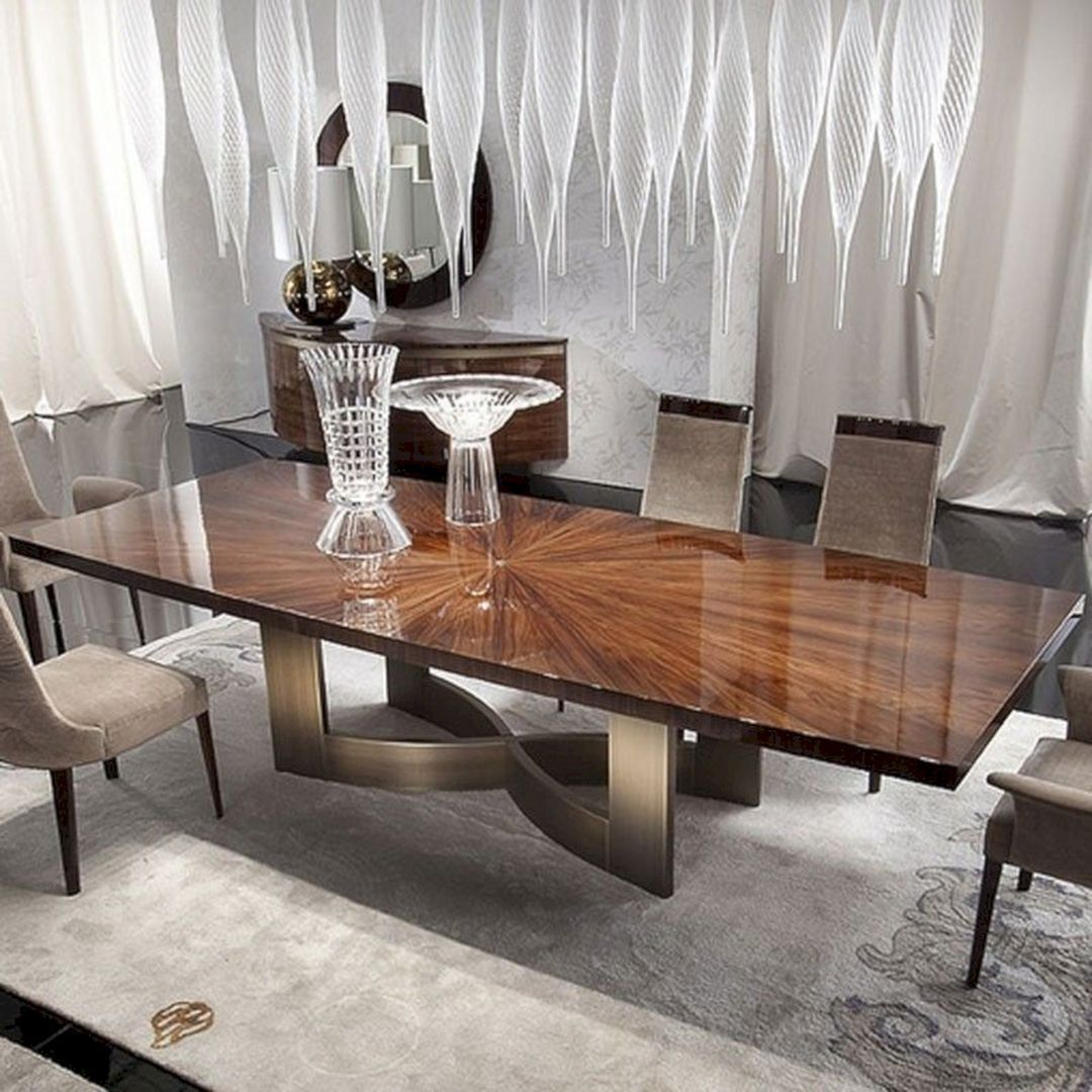 Best And Beautiful Wood Dining Table Design And Decoration Ideas Teracee Luxury Dining Room Dining Table Design Modern Dinning Table Design