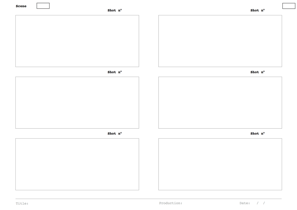 Free Storyboard Template In Pdf Format This Template Has Six Blank
