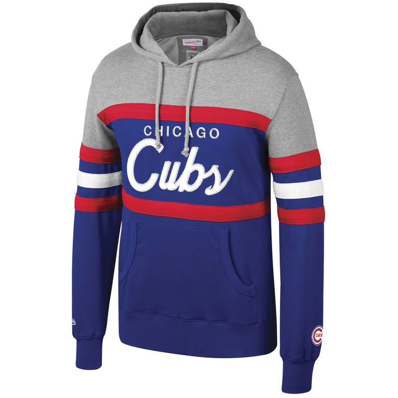 ac27a19e4 Chicago Cubs Mitchell & Ness Head Coach Hoodie – Royal   Products ...