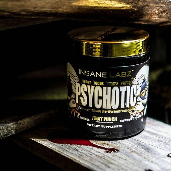 Psychotic Gold Fitness Supplements Workout Soreness Sports