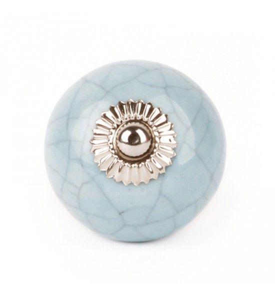Pomello in Ceramica Azzurro Shabby | pomelli | Shabby ...