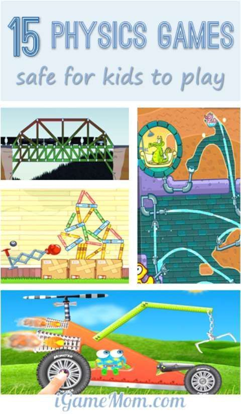 15 fun physics games that are safe for kids to play, including apps and websites, kids as young as preschool age can play and learn science at the same time. Fun STEM activities for kids.