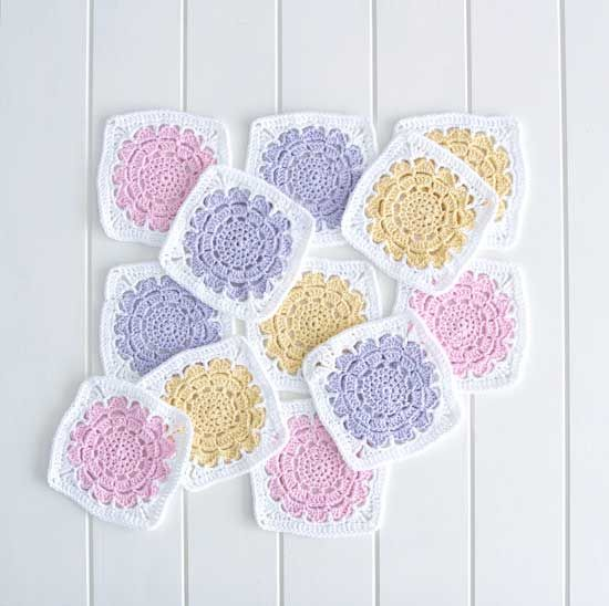 Flower granny square free #crochet pattern from RedAgape | Crochee ...