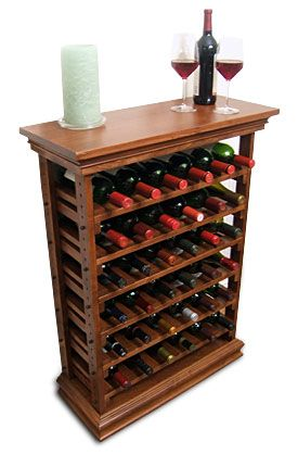 Wooden Wine Rack | wine storagerack with top and baseboard | Wine ...