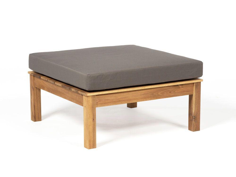 Table basse de jardin et repose pieds en acacia FSC avec coussin ...