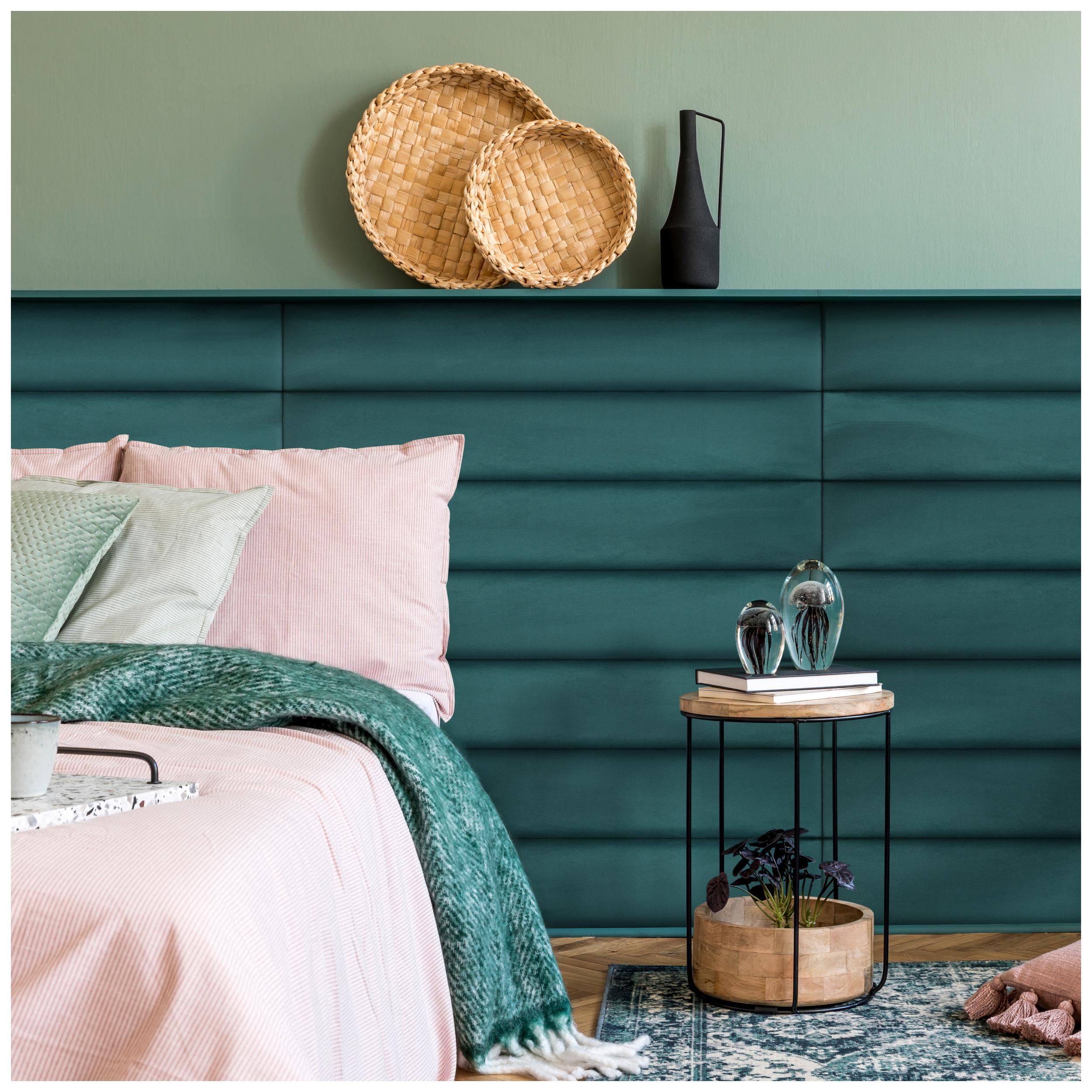 Szmaragdowy Panel Tapicerowany Home Paneling Bed