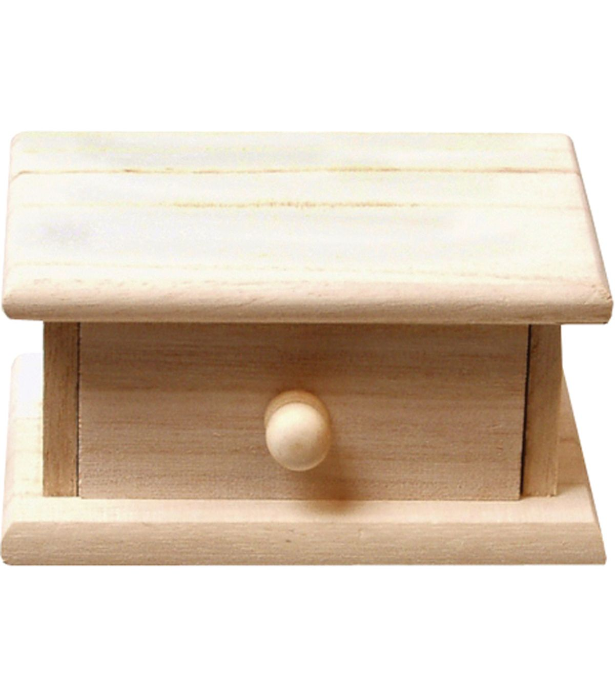 Small Wood Storage Box with Drawer Wood storage Storage boxes and