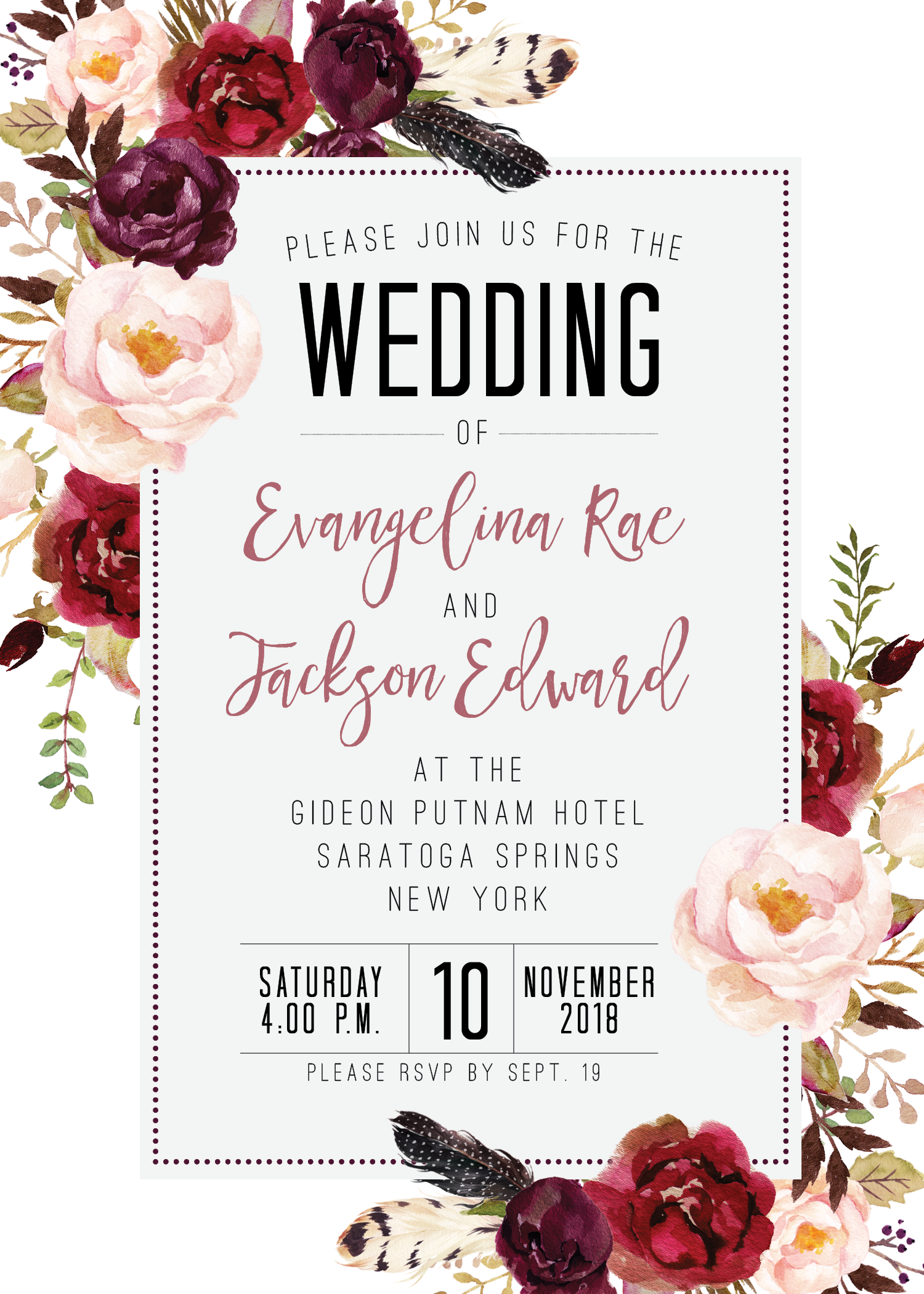 Wedding decorations with flowers november 2018 boho wedding gold foil wedding invitations wedding invitations