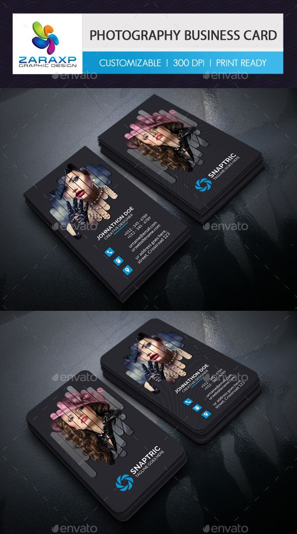 Photography Business Card Template PSD #design Download: http ...