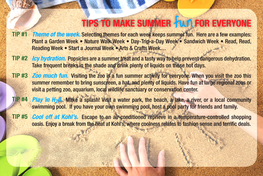 Tips to make summer fun for everyone...!