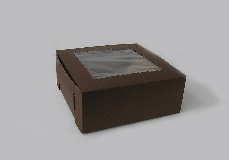 Cupcake Boxes, Chocolate Brown or Strawberry Window Box for 6 Cupcakes $0.83