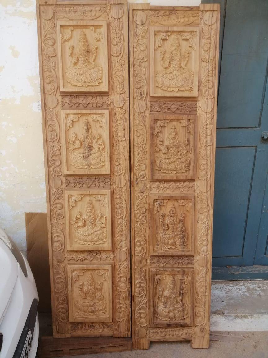 Pin By Vishwakarmaart On Doordesignartcam 918421146457 Puja Room Wooden Doors Decor