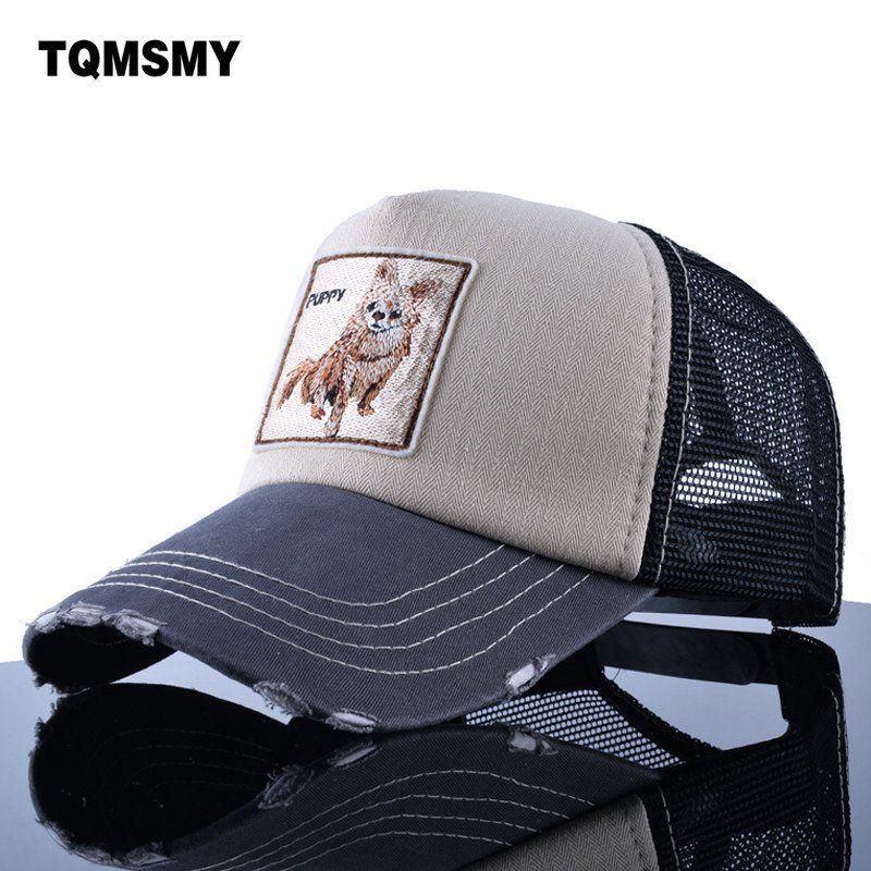 huge selection of 07da0 29fa5 TQMSMY Sun hats for women s Snapback caps Mesh Baseball Cap men summer Hat  Embroidery dog Trucker Cap Unisex Hip Hop bone Pokemo