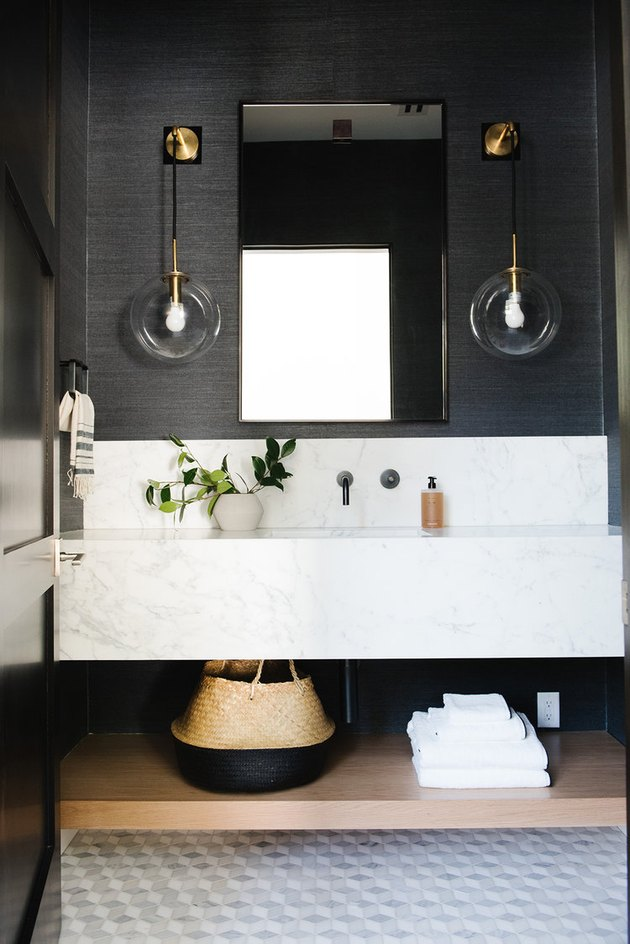 15 Half Bathroom Ideas That Will Make You Forget About Their Size | Hunker