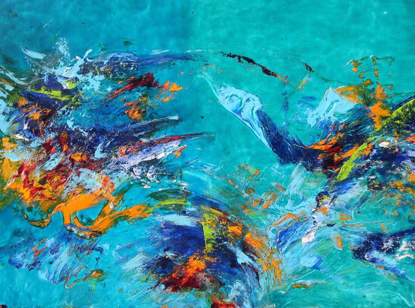 peinture art abstrait technique acrylique vitrail glycro - Peinture Acrylique Ou Glycero Difference