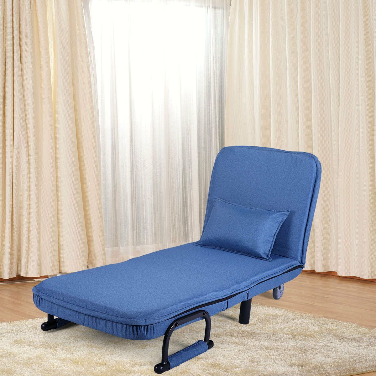 Convertible Sleeper Flip Chair Pullout Bed Single Couch