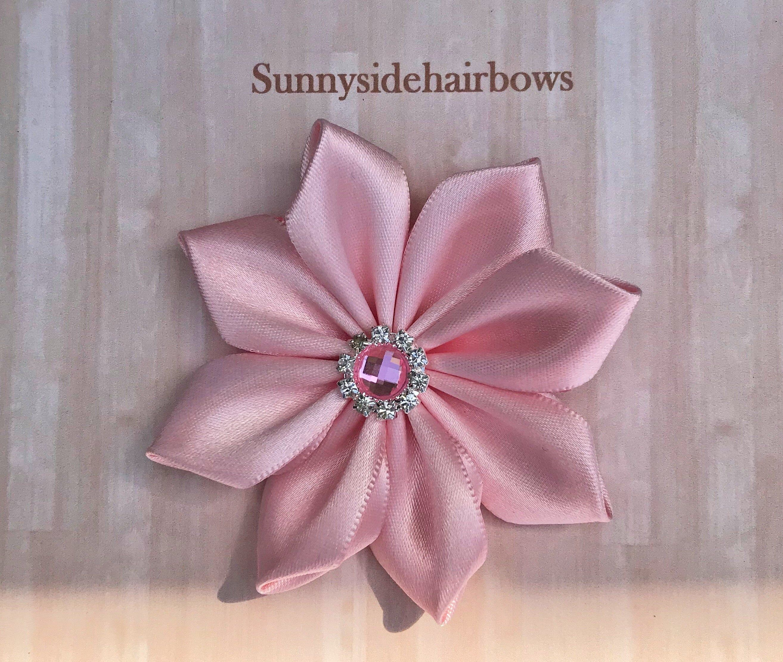Pink Flower Hair Bow