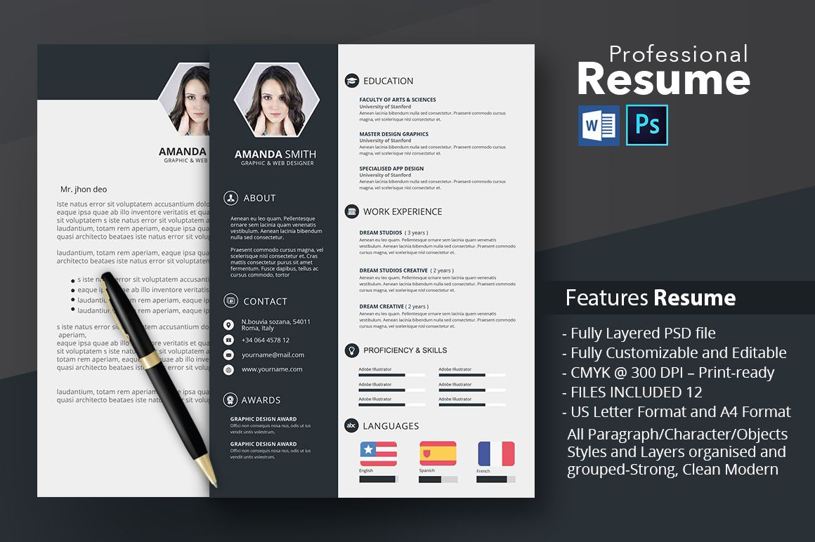 Resume Template Word and Resume template word