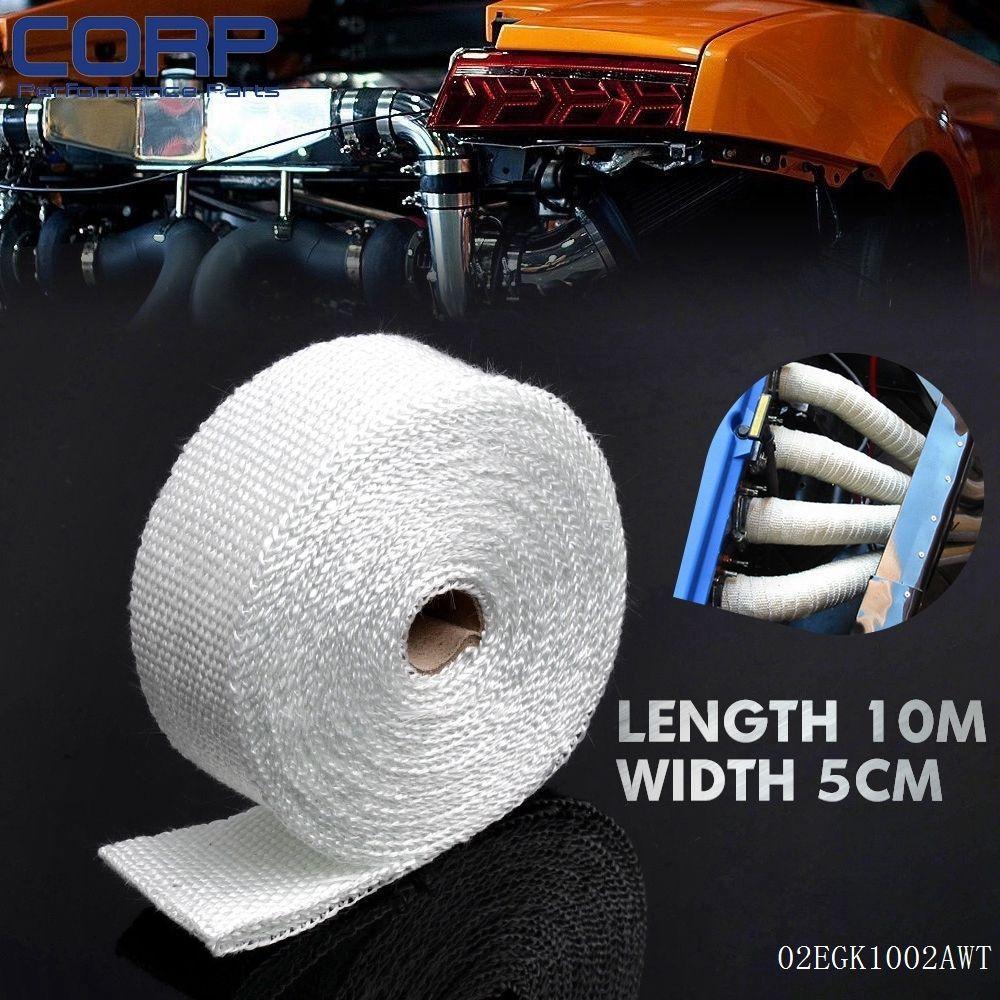 Fiberglass Exhaust Protection Pipe Heat Header Insulation Tape Turbo Wrap 10M